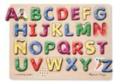 Melissa & Doug Toddler Spanish Alphabet Wooden Sound Puzzle