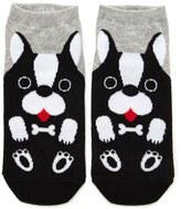 Forever 21 FOREVER 21+ Dog Print Ankle Socks
