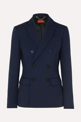 Altuzarra Indiana Double-breasted Wool-blend Blazer - Navy