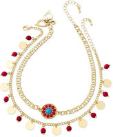 Thalia Sodi Gold-Tone 2-Pc. Set Multi-Stone Choker Necklaces, Only at Macy's