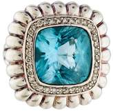 John Hardy Topaz & Diamond Bedeg Ring