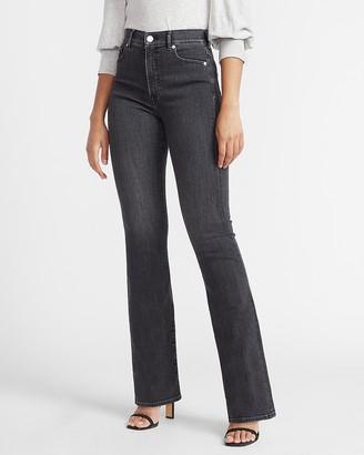 Express High Waisted Denim Perfect Black Bootcut Jeans