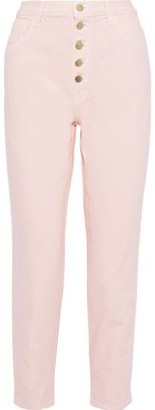 J Brand Heather Cropped High-rise Tapered Jeans