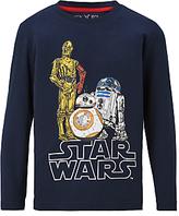 Star Wars Children's Droids Print T-Shirt, Blue