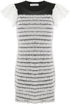 Philosophy di Lorenzo Serafini Lace-Trim Crew Neck Dress
