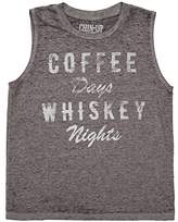 Fifth Sun Chin Up Coffee Days Whiskey Nights Junior Muscle Tank Top