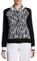 St. John SportSport Collection Leopard Printed Jacket