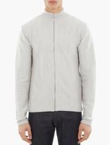 S.N.S. Herning Grey Zip-Up Merino-Blend Sweater