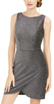 B. Darlin Juniors' Sleeveless Envelope Dress