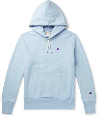 Champion Logo-Embroidered Fleece-Back Cotton-Blend Jersey Hoodie