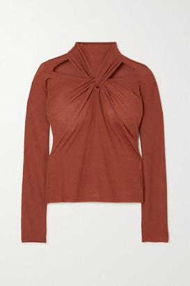 REJINA PYO Maia Twist-front Cutout Jersey Top