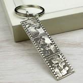 Nicola Crawford Personalised Sterling Silver Photo Filmstrip Keyring