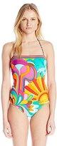 Trina Turk Women's Playa Azul Bandeau One Piece Swimsuit