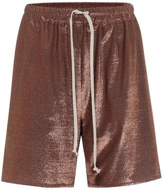 Rick Owens Lilies metallic Bermuda shorts