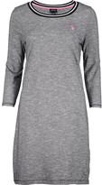 U.S. Polo Assn. Women's Polo Shirts ANTHRACITE - Anthracite Space Dye Three-Quarter Sleeve Dress - Women