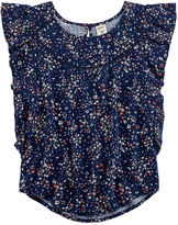 Arizona Ruffle Woven Top - Girls 7-16 and Plus