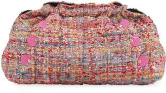 Kooreloo Poumn Multicolored Wool Clutch Bag