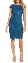 Adrianna Papell Women's Sequin Embroidered Sheath Dress