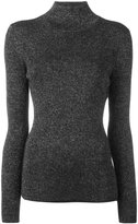 Diane von Furstenberg roll-neck knitted top - women - Polyester/Viscose/Merino/Metallic Fibre - L