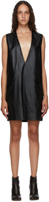 MM6 MAISON MARGIELA Black Faux-Leather Dress