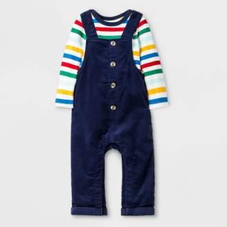 Cat & Jack Baby Boys' Cord Overall with Rainbow Bodysuit Set - Cat & JackTM