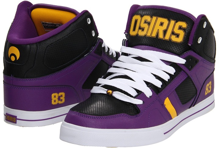 Osiris NYC83 VLC (Purple/Black/Yellow) - Footwear
