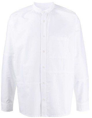 A.P.C. Collarless Fitted Shirt