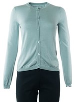 Valentino Womens Light Teal Cashmere Blend Cardigan.