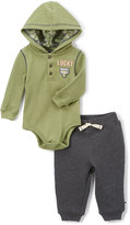Lucky Brand Green Hooded Bodysuit & Sweatpants Set - Infant