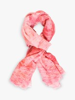 Chesca Marble Print Scarf, Rose Pink