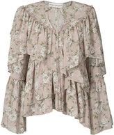 Robert Rodriguez floral ruffle blouse - women - Silk - XS