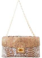 Kara Ross Metallic Python Shoulder Bag