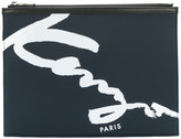 Kenzo Signature clutch - men - Leather/Polyester - One Size