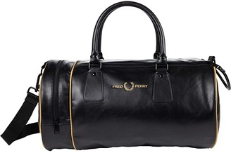 Fred Perry Sharp PU Barrel Bag (Black) Handbags