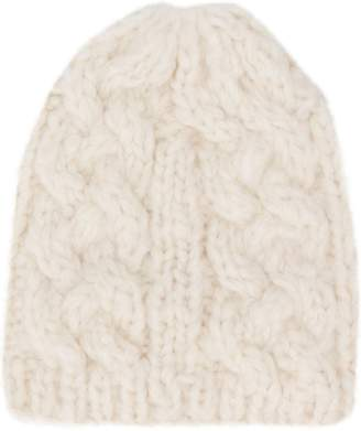 Snobby Sheep cashmere cable-knit beanie hat