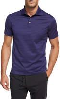 Ermenegildo Zegna Striped Cotton Polo Shirt, Purple/Black