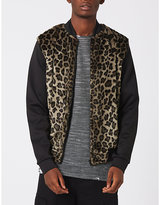 Topman Topman Aaa Leopard-print Shell Bomber Jacket