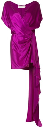 Mason by Michelle Mason Wrap Style Silk Dress