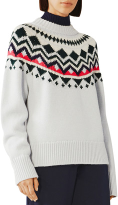 Tory Sport Engineered Fair Isle Merino Sweater