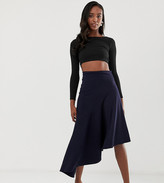 John Zack Tall Asymmetric skirt in blue