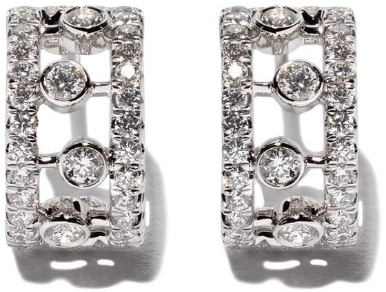 De Beers 18kt white gold Dewdrop diamond earrings