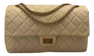Chanel 2.55 White Leather Handbags