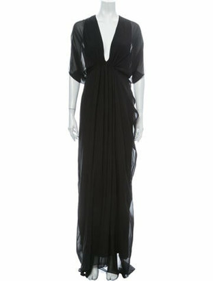 Gucci Silk Long Dress w/ Tags Black