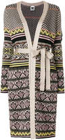 M Missoni belted patterned long cardigan