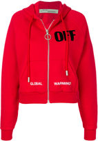 Off-White off big zipped hoodie