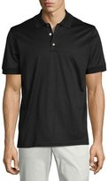 Brioni Jersey Knit Polo Shirt, Black