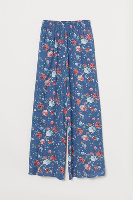 H&M Wide-leg Pants - Blue