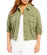Gibson & Latimer Plus Cropped Field Jacket