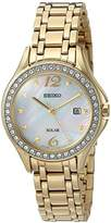 Seiko Women's Quartz Stainless Steel Casual Watch, Color:Gold-Toned (Model: SUT314)