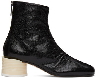 MM6 MAISON MARGIELA Black Circle Heel Boots